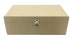 Caixa Lisa C/ Fecho 20x30x10 MDF Crú Decoração 100%Qualidade