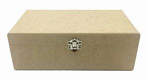 Caixa Lisa Com Fecho 12x20x7 MDF Crú Decoração 100%Qualidade
