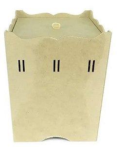 Lixeira de Passa Fita Quadrada Kit BB - Mdf Crú