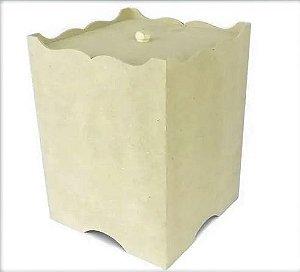 Lixeira Modelo Lisa Quadrada Kit BB - Mdf Crú