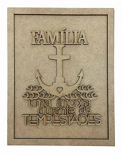 Quadros Decorativos Personalizado *Família Uma Âncora..* MDF
