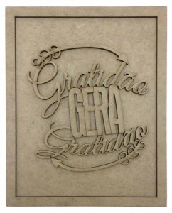 Quadros Decorativos Personalizado *Gratidão Gera Gra...* MDF