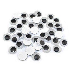 Olhos Móvel sem Pestana com 100 unidades 7mm