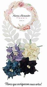 Flores de Papel P/ Scrapbook 12-01 Doce de Pote
