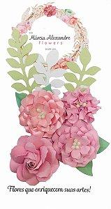 Flores de Papel P/ Scrapbook 18-01 Licor De Rosas