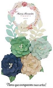 Flores de Papel P/ Scrapbook 05-02 Salada de Fruta