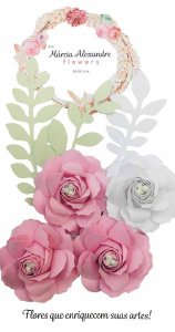Flores de Papel P/ Scrapbook 17-07 Licor de Rosas