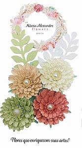Flores de Papel P/ Scrapbook 06-01 Salada de Frutos