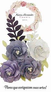 Flores de Papel P/ Scrapbook 17-01 Mousse Uva