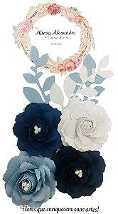 Flores de Papel P/ Scrapbook 17-06 Licor de Anis