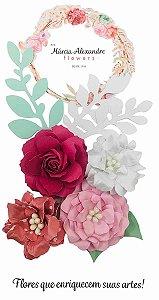 Flores de Papel P/ Scrapbook 0801 Licor de Rosas