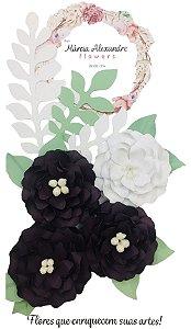 Flores de Papel P/ Scrapbook 0203 Torta de Amora
