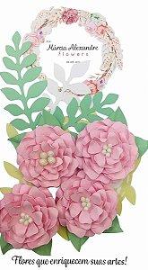 Flores de Papel P/ Scrapbook 0202 Licor De Rosas