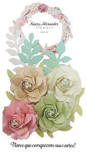 Flores de Papel para Scrapbook e Artesanatos 1703