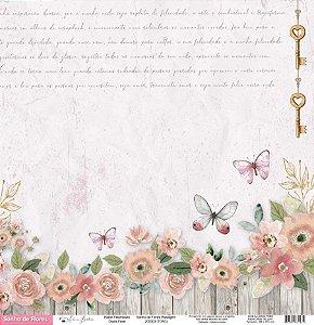 Papel Scrapbook - Scrap By Antonio - SONHO DE FLORES PAISAGEM - TON3