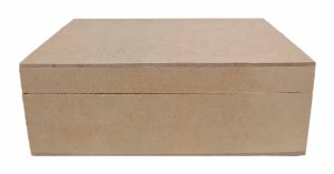 Caixa Lisa em MDF C/ Dobradiça P 20x12x7 Decoração Qualidade