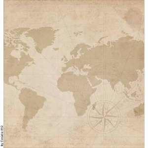 Papel Para Scrapbook Dupla Face 30,5 cm x 30,5 cm – Kit Viagem Estampa com Itens de Viagem SD-1138