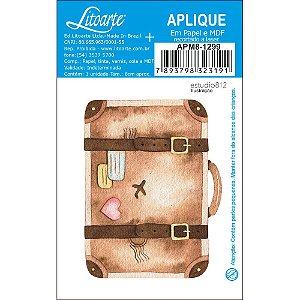 APM8-1299 - Aplique Em Papel E MDF - Kit Viagem Mala