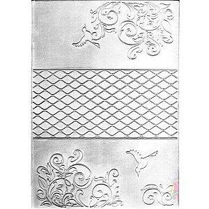 Placa De Emboss - Arabesco Floral - A4 - 23037- Sunlit