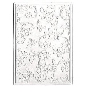 Placa De Emboss - Arabesco Floral - 10 cm x 15 cm - Sunlit