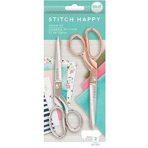 Kit de Tesouras Coleção Happy Stitch C/2 Peças -660393- We R
