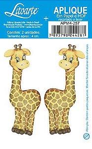 APM4-257 - Aplique Litoarte Em Papel E MDF - Girafas