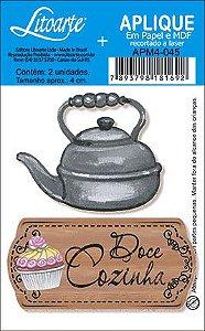 APM4-045 Aplique Litoarte Em Papel E MDF - Doce Cozinha