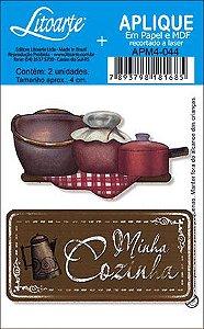 APM4-044 Aplique Litoarte Em Papel E MDF - Minha Cozinha