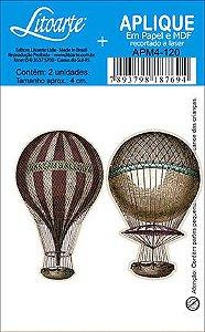 APM4-120 Aplique Litoarte Em Papel E MDF - Balões