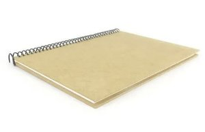 Caderno MDF Capa Grande Com Espiral