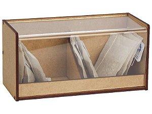 Caixa de Chá Tampa Acrílico Articulado