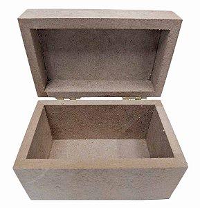 Mini Baú Mdf Lembrancinha Dobradiça 12x7x8 Cm Qualidade