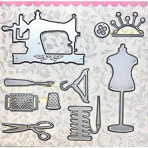 Faca de Corte em Metal Arte & Montagem Elementos de Costura