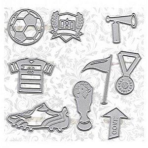 Faca de Corte em Metal Arte & Montagem Futebol
