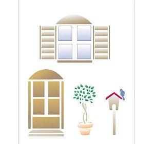 Stencil 15X20 Simples – Porta e Janela – OPA 1068