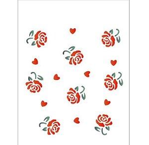Stencil 15X20 Simples – Estamparia Rosas – OPA 1008