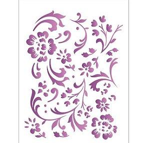 Stencil 15X20 Simples – Estamparia Floral – OPA 382