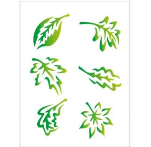 Stencil 15X20 Simples – Folhas – OPA 233