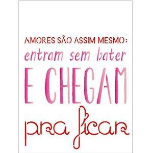 Stencil 15X20 Simples – Amores São Assim – OPA 1836