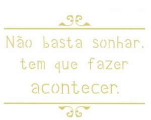 Stencil 15X20 Simples – Frase Não Basta Sonhar – OPA 2446