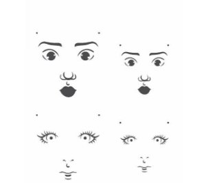 Stencil 15X20 Simples – Rosto Boneca I – OPA 2500