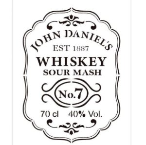 Stencil 20X25 Simples – Whiskey OPA 2085