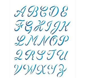 Stencil 20X25 Simples – Alfabeto Maiusculo OPA 1398