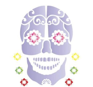 Stencil 20X25 Simples – Caveira Mexicana OPA 1180