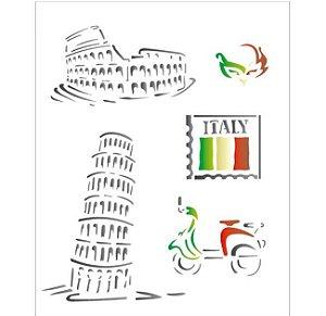 Stencil 20X25 Simples – Países Itália OPA 1329