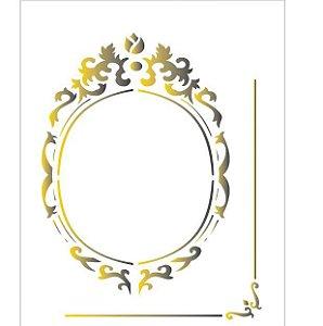 Stencil 20X25 Simples – Moldura Oval OPA 1783