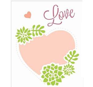Stencil 20X25 Simples – Moldura Coração OPA 2464