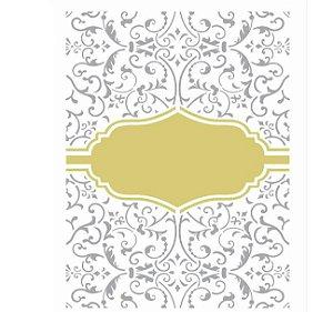 Stencil 20X25 Simples – Moldura Tag e Arabescos OPA 2466