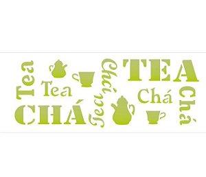 Stencil 10×30 Simples – Estampa Chá – OPA 743
