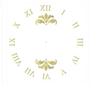 Stencil OPA Simples 30,5 x 30,50 cm - 2103 Relógio II